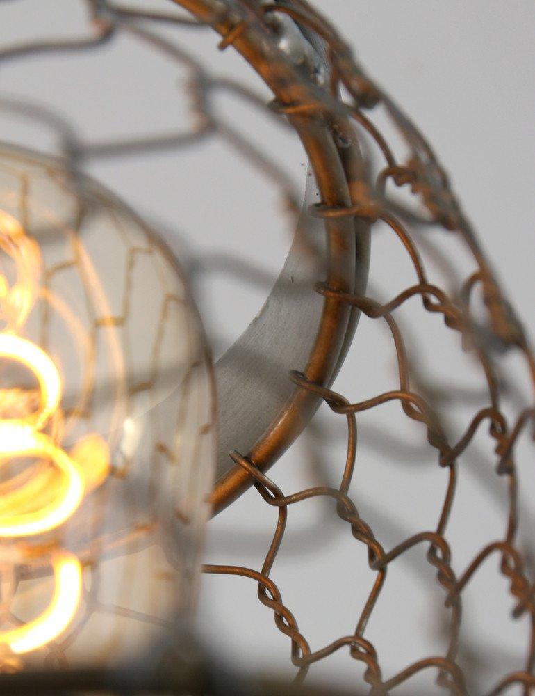 Tunas À Lampe Filet Lightamp; Living Metallique Vintage eHY9EWbD2I