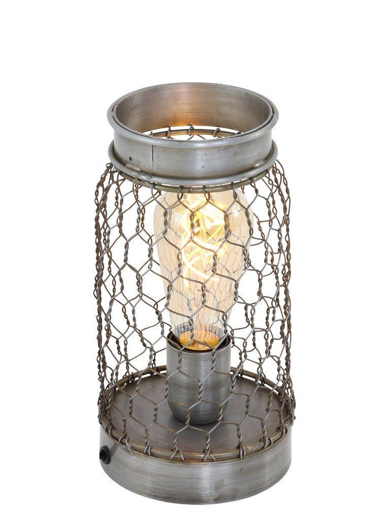 Lampe à filet metallique vintage Light & Living Tunas