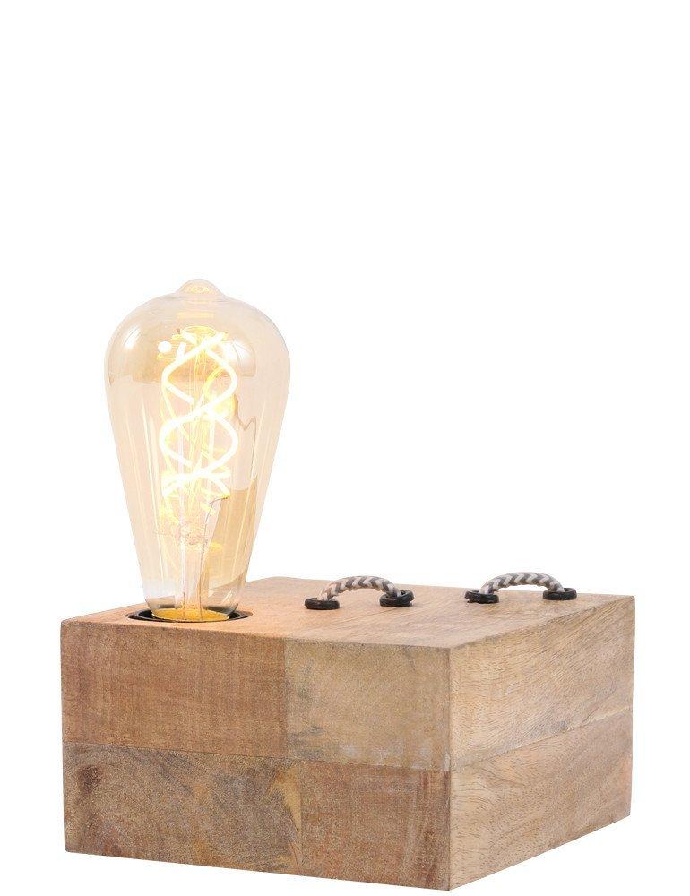lampe poser en bois light living rinca. Black Bedroom Furniture Sets. Home Design Ideas