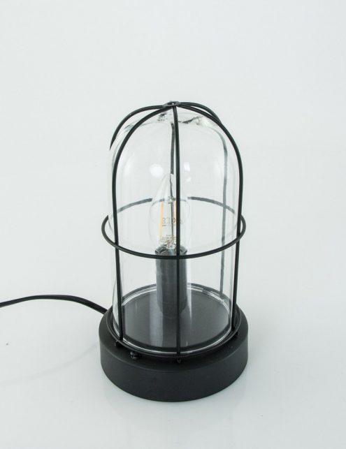 lampe a poser en verre transparent