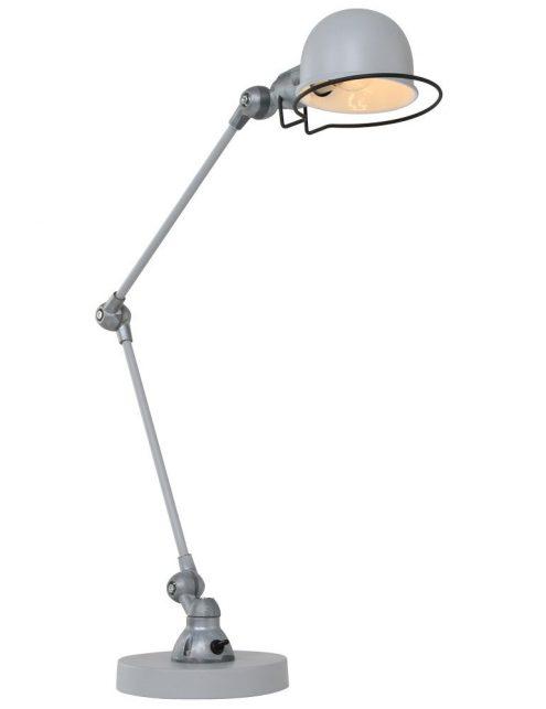 lampe de bureau grise