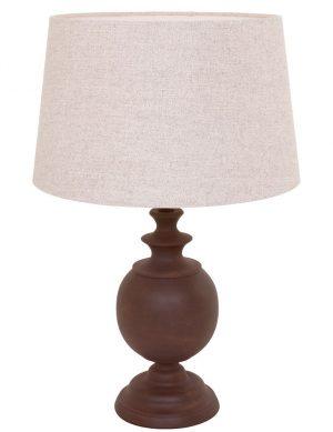 lampe de chevet bois et blanc