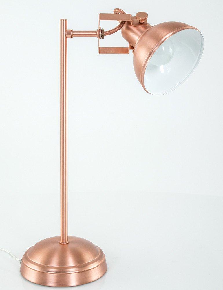lampe de chevet cuivre rose trio leuchten gina. Black Bedroom Furniture Sets. Home Design Ideas