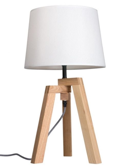 lampe de table bois