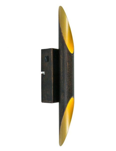 lampe noir et or