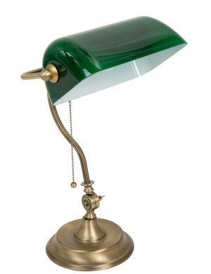 lampe notaire opaline verte