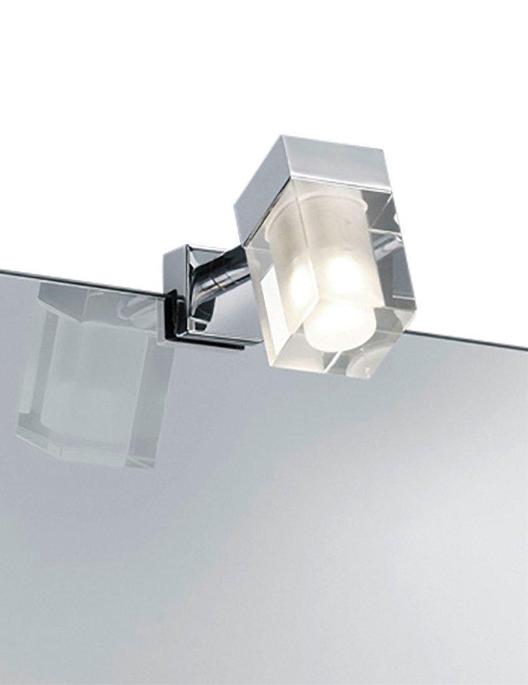 Lampe pour miroir salle de bain trio leuchten cubo for Lampe salle de bain