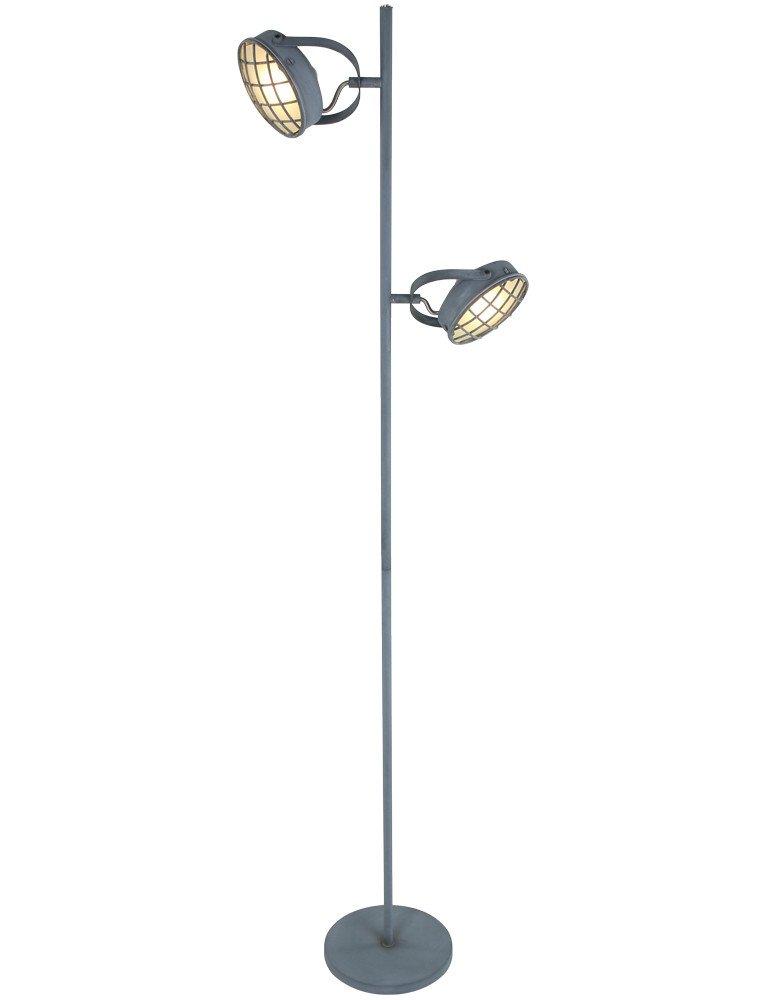 lampe sur pied style industriel freelight lazaro. Black Bedroom Furniture Sets. Home Design Ideas