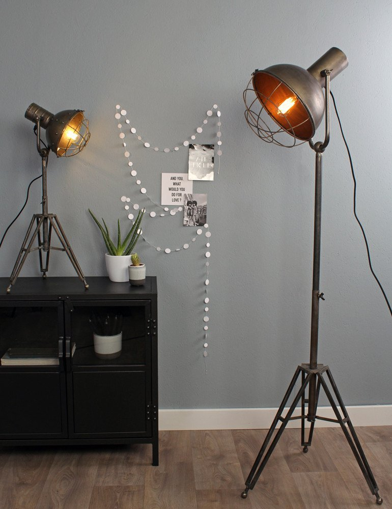 Lampadaire style industriel light living - Lampe de salon sur pied ...