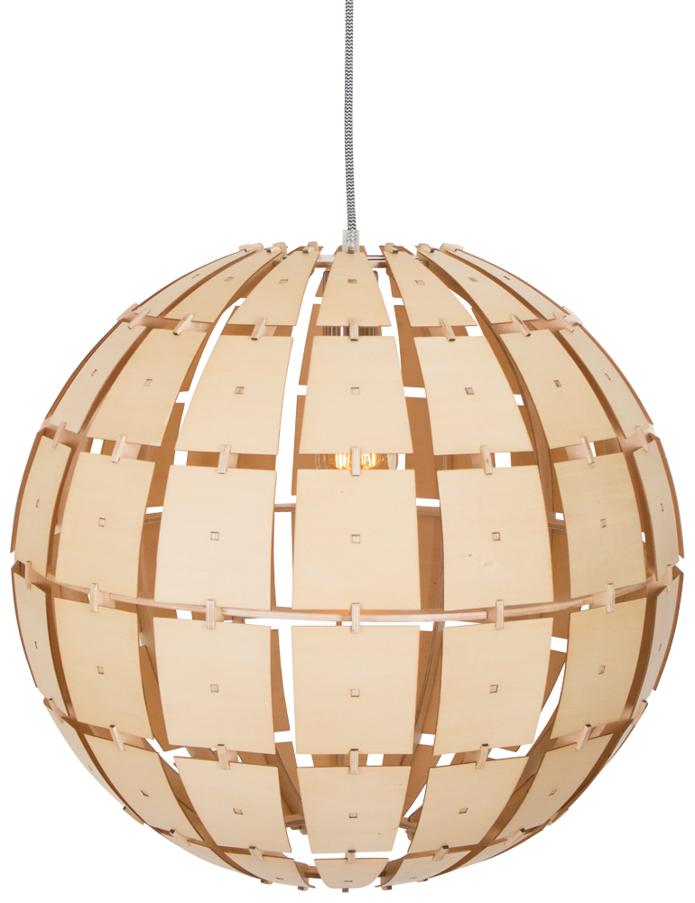 lampe suspendue bois steinhauer woody. Black Bedroom Furniture Sets. Home Design Ideas