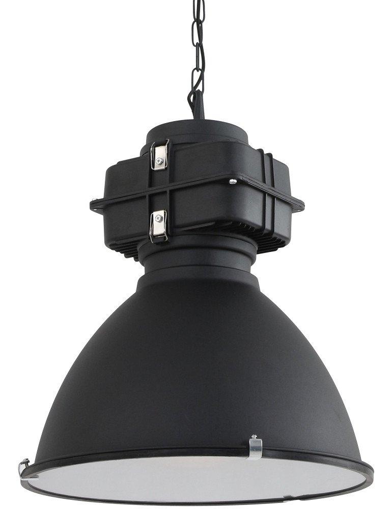 lampe suspendue industrielle noire | salle à manger/cuisine