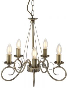 lustre en bronze 5 branches globo truncatus. Black Bedroom Furniture Sets. Home Design Ideas
