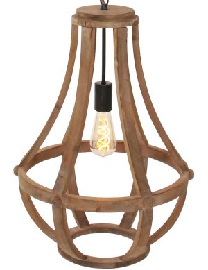 lustre suspension bois