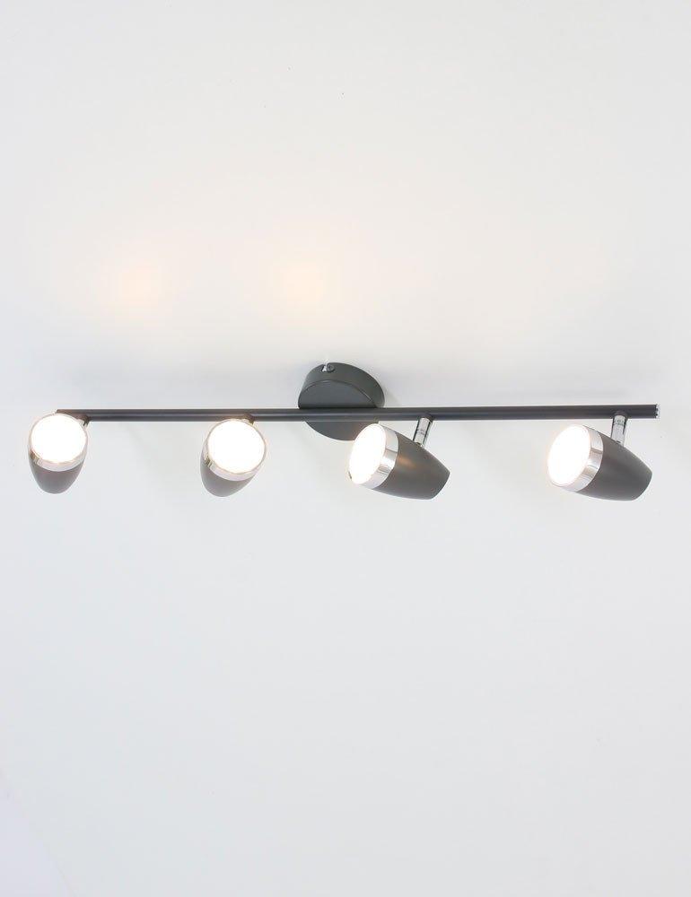 plafonnier 4 spots orientables globo nero. Black Bedroom Furniture Sets. Home Design Ideas