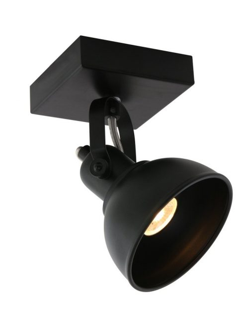 plafonnier industriel noir