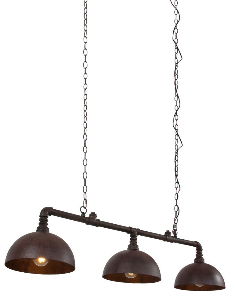 suspension 3 lampes industriel light living falerite. Black Bedroom Furniture Sets. Home Design Ideas