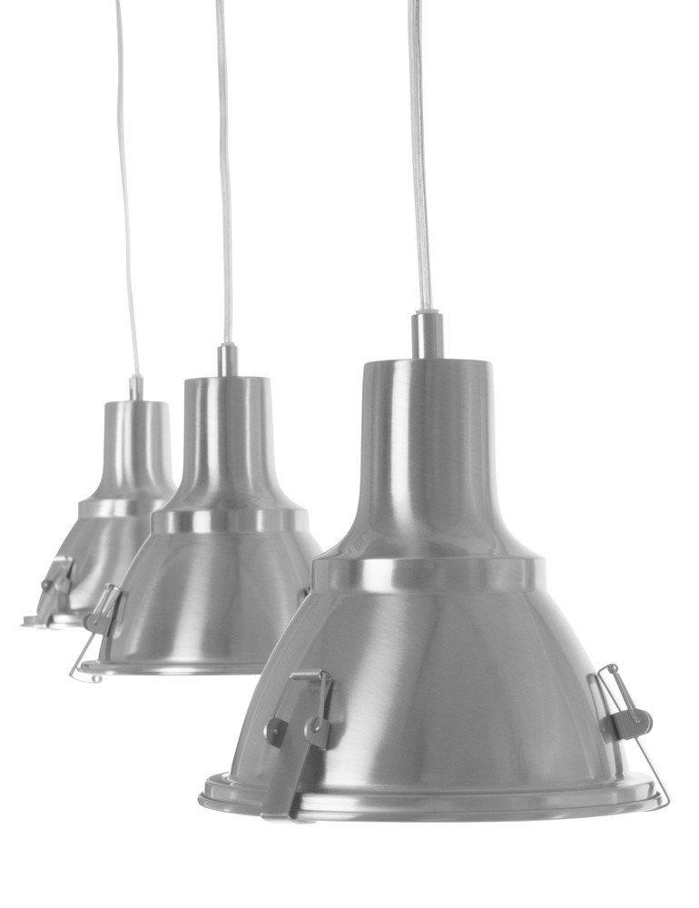 suspension 3 lumieres steinhauer parade style industriel. Black Bedroom Furniture Sets. Home Design Ideas