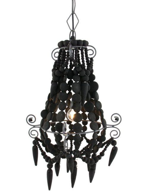 suspension baroque noire