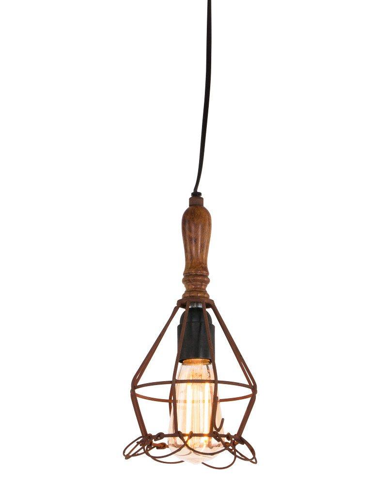 suspension bois et metal light living bernadet design unique. Black Bedroom Furniture Sets. Home Design Ideas