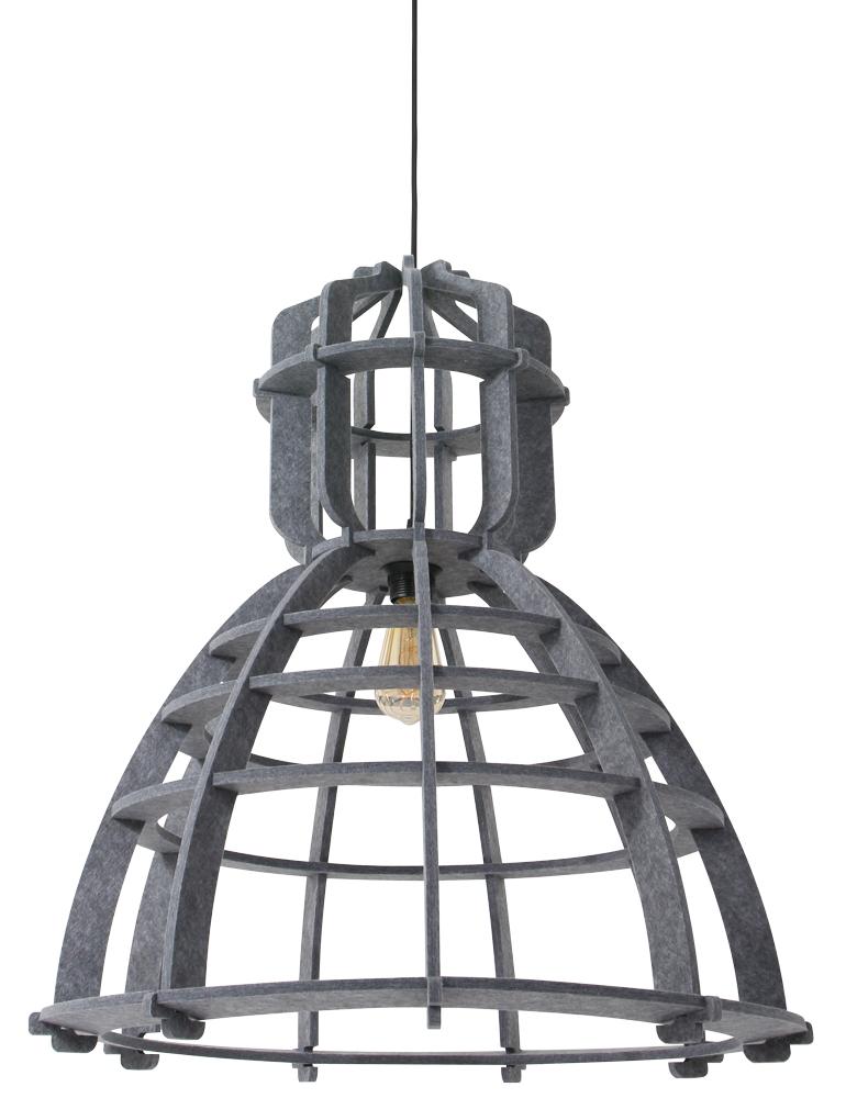 suspension cage design unique abat jour en feutre gris. Black Bedroom Furniture Sets. Home Design Ideas
