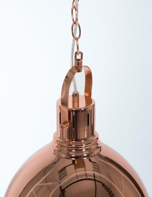 suspension cuivre rose