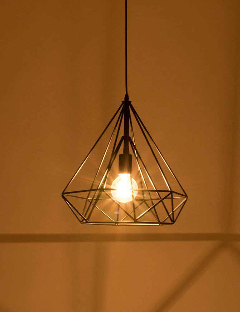 suspension fil de fer noir lumidem jenno design tendance