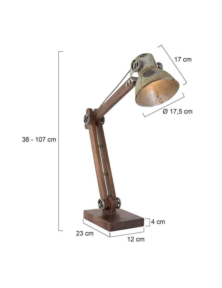 Lampe Light Vintage 70' Bureau Ekerd amp;living De 6y7gfYb
