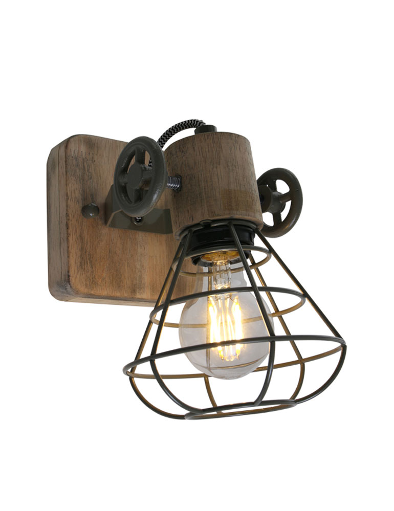 Applique murale ligne industrielle anne lighting guernsey - Lampe murale industrielle ...