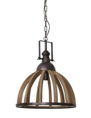 1675B-lampe suspension bois rural