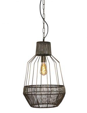 1680BR-lampe suspendue en rotin industriel