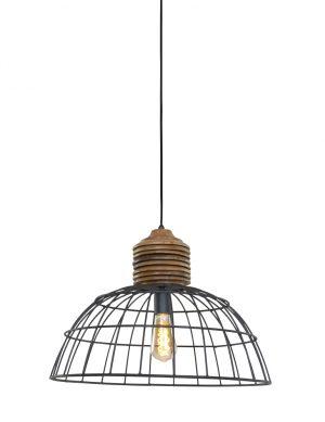 1686GR-lampe suspendue fil en bois