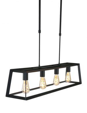 1705ZW-lampe de table noire suspendue rectangulaire