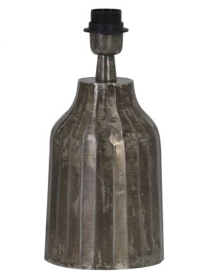 2075ZW-Pied de lampe en faïence gris
