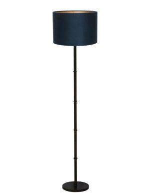 9989ZW-pied de lampe rustique noire