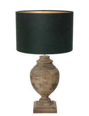 9991B-lampe vase en bois