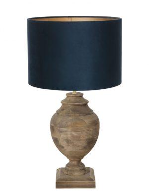 9992B-lampe vase en bois