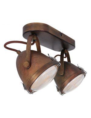 Plafonnier vintage 2 lampes-1312B