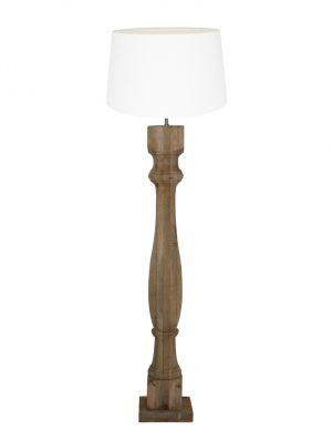 lampadaire avec base en bois-9183BE