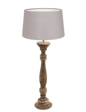 lampe de table avec base en bois-9178BE