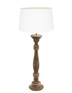 lampe de table avec base en bois-9179BE