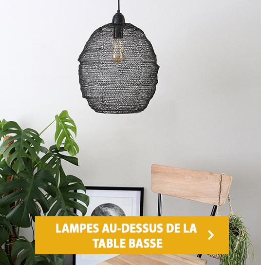 LAMPES AU-DESSUS DE LA TABLE BASSE