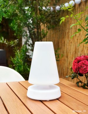 Lampe à poser pour extérieur blanc