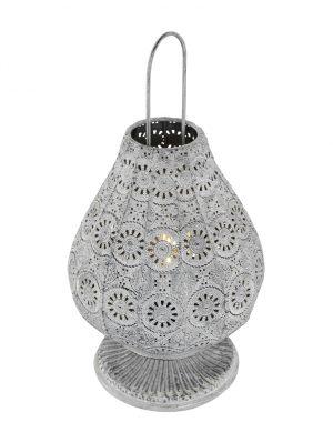 Lanterne orientale fleurie Trio Leuchten Jasmin couleur grise-1067GR