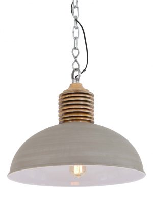 Suspension Light & Living Avery couleur grise-1217BE
