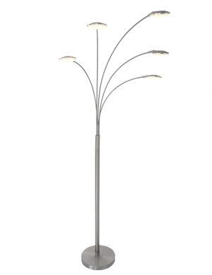 Lampadaire à cinq lumières LED Mexlite Synna en acier-1327ST