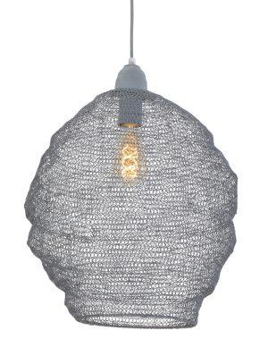 Lampe en maille grise Light & Living Nina-1377GR
