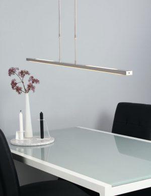 Suspension moderne à LED Steinhauer Humilus couleur acier-1482ST