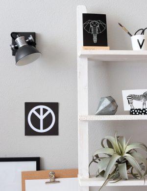 Plafonnier à LED robuste Steinhauer Brooklyn couleur noire-1533ZW