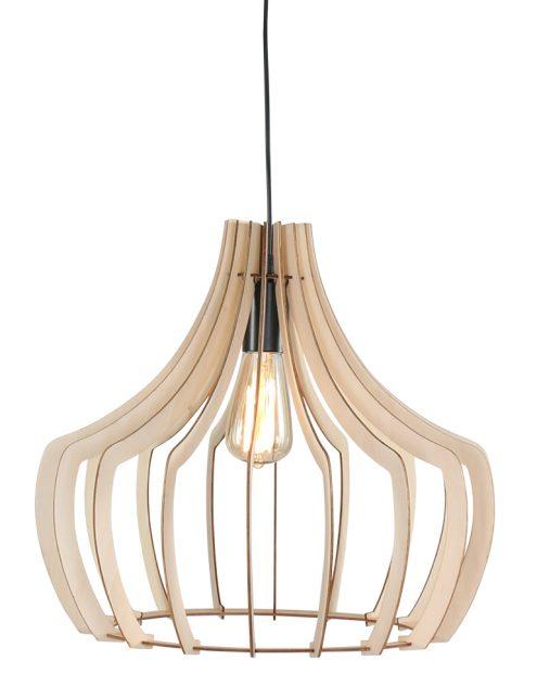Lampe à suspension en bois ajourée Trio Leuchten brun-1626BE