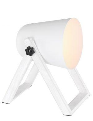 Lampe de table scandinave Trio Leuchten Marc blanc-1642W